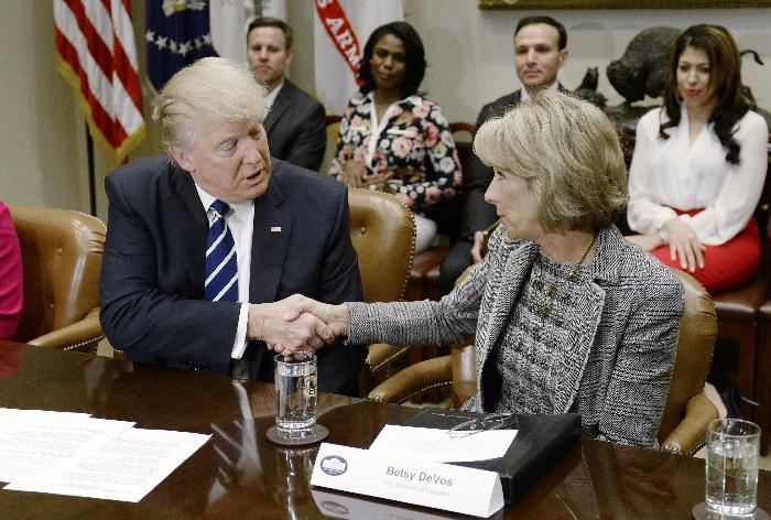 Betsy+Devos+was+announced+as+the+U.S.+Secretary+of+Education+despite+having+no+experience+in+public+education.