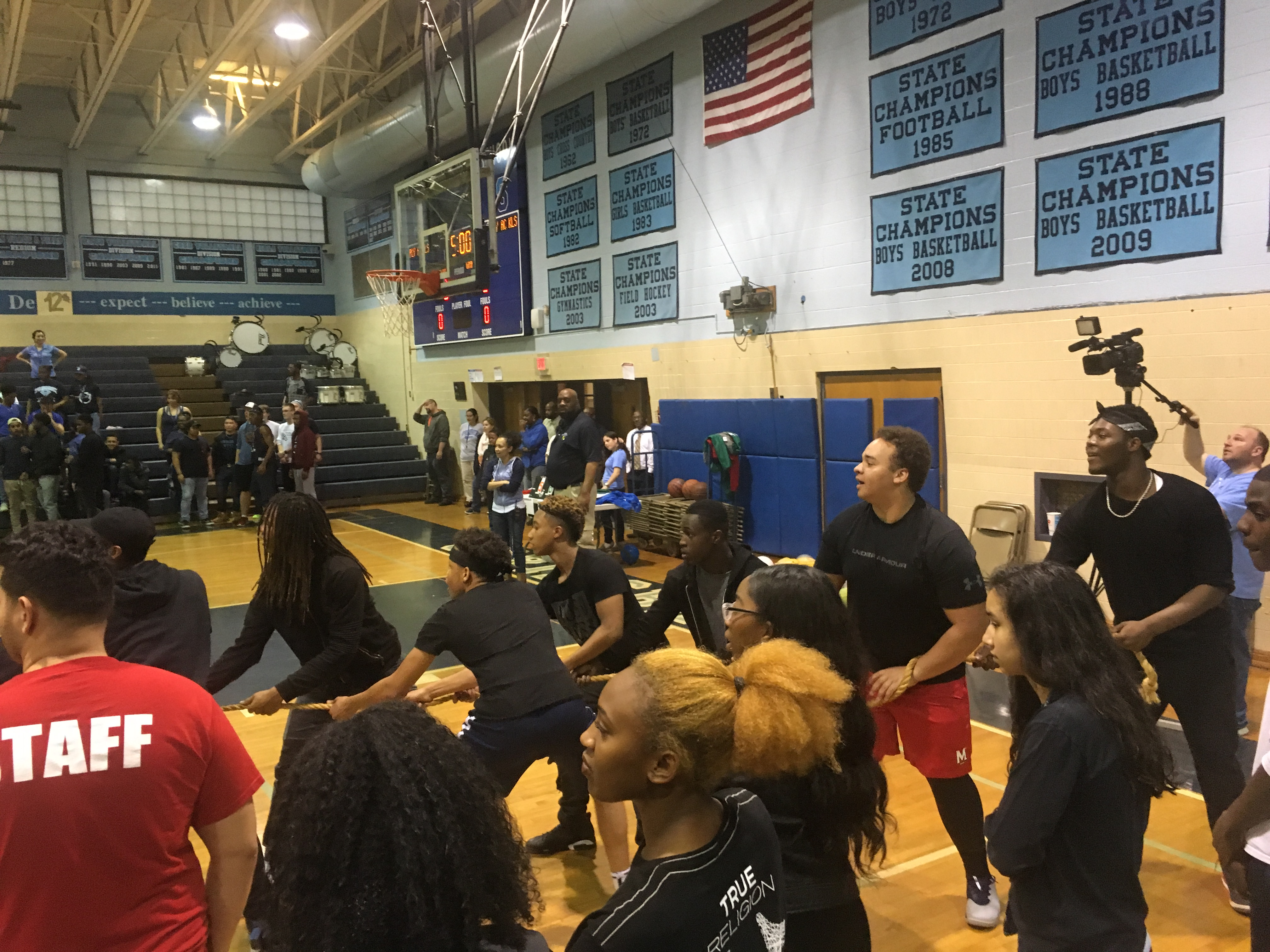 Class Color Day - The juniors really showed their school spirit wearing all black as they faced off against the freshman in a heated tug of war.