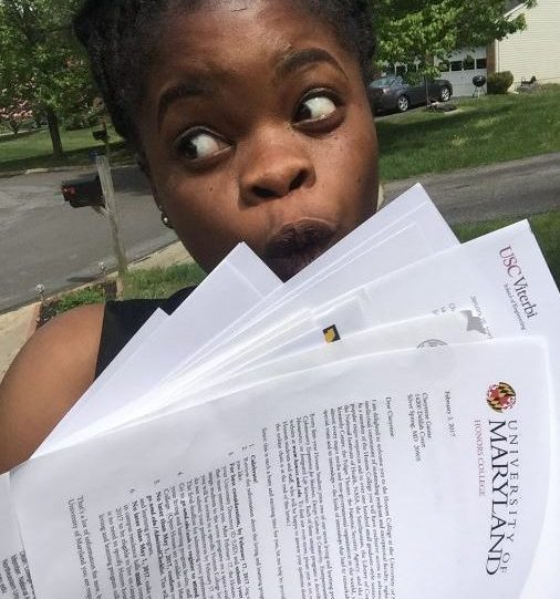 Senior Cheyenne Gaima received 14 acceptances, including 3 Ivy League institutions (Harvard University, University of Pennsylvania, and Dartmouth) and a total of 7 full rides.