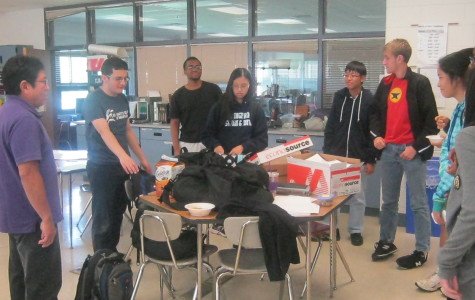 The math team prepares for its latest meet. The team is the top-rank squad in the NEC.