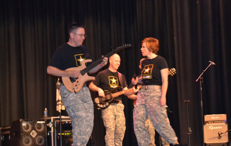 Army rock band performs at the Brook