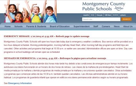 MCPS emergency weather procedures irritate students