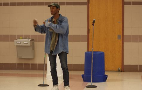 Junior Josh Sabater has become known for spreading positivity and using his poems and raps to share his message.