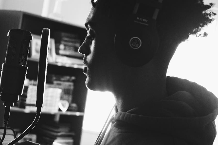 Jonathan Negero records raps and produces in his living room with hopes of making music a career.