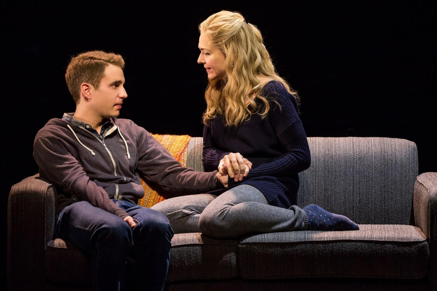Ben+Platt+and+Rachel+Bay+Jones+in+the+musical%2C+%22Dear+Evan+Hansen.%22+%28Handout%2FTNS%29