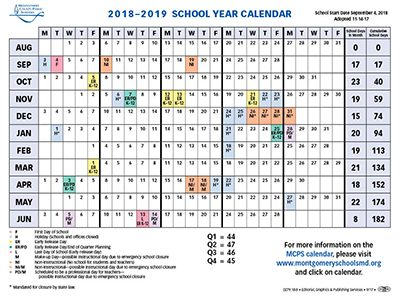 Montgomery County Public Schools makes changes to next year's calendar