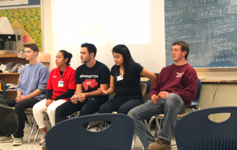 Springbrook Interns at Meet and Greet (left-right: Zachary A., Springbrook Drama Department; Jackie M., Holy Cross Hospital; Kevin Z., DARCARS; Ashley B., Washington Adventist Hospital; Daniel H., Heyser Farms)