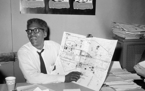 Bayard Rustin is depicted organizing for the March On Washington.