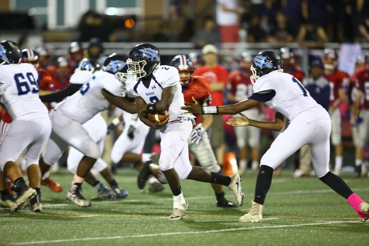 The Springbrook Blue Devils face the Wootton Patriots.