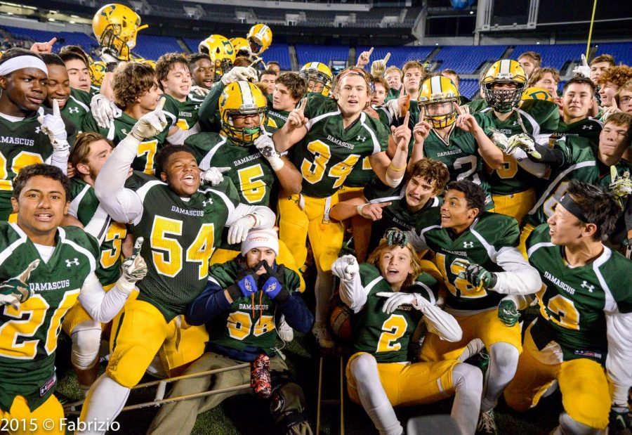 Damascus high school's varsity football team has won a total of 10 state championships, including a three-peat in 2015, 2016 and 2017.
