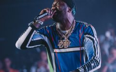 Meek Mill performs for the first time since his release from prison.