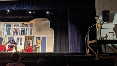 A scene from Noises Off