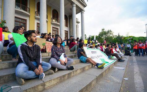 A November global climate strike in Bangalore, India.